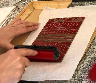 inchiostrare un linoleum